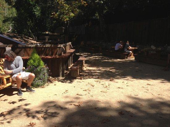 Big Sur Taphouse: Sunny rear courtyard