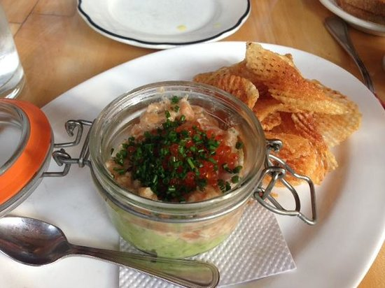 Market Table: An addition to the menu for today: Arctic Char Tar Tar.