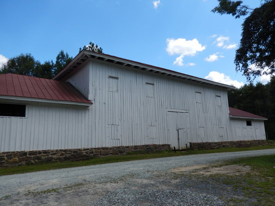 Stagville State Historic Site: View of the front of the Great Barn