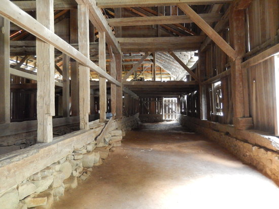 Stagville State Historic Site: Inside view of the Great Barn