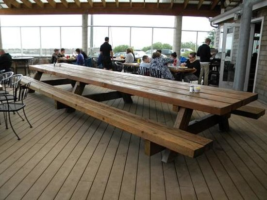 HUGE Picnic Table Picture Of The Schooner Restaurant Lounge - Huge picnic table