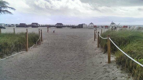 Shore Club South Beach Hotel: Walkway to the beach