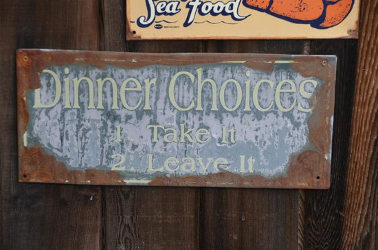 Kneadery: Signs on Patio