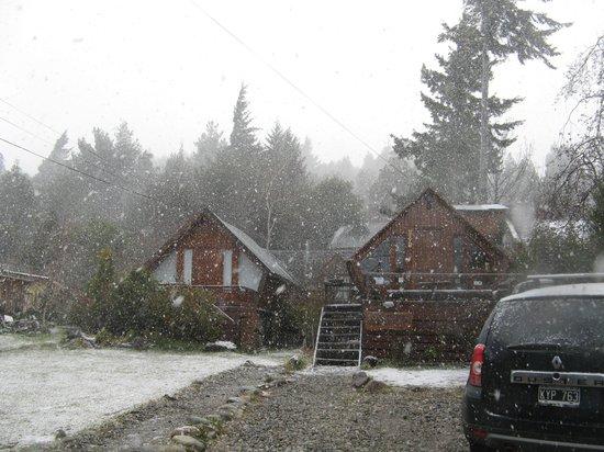 Alaska Hostel: Nieve en el alaska