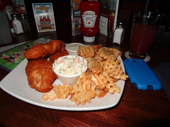 Champps Americana: Fish and Chips.  Really good!
