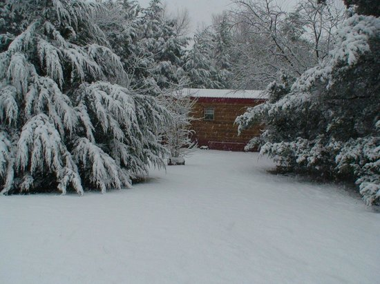 River of Love Cabins: Snow @ Red Bud cabin