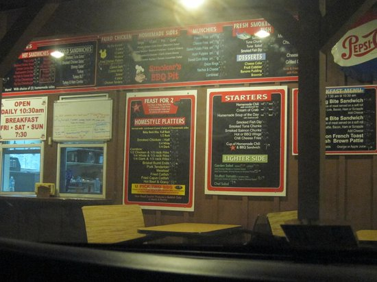 Smoker's BBQ Pit: Outdoor menu and ordering