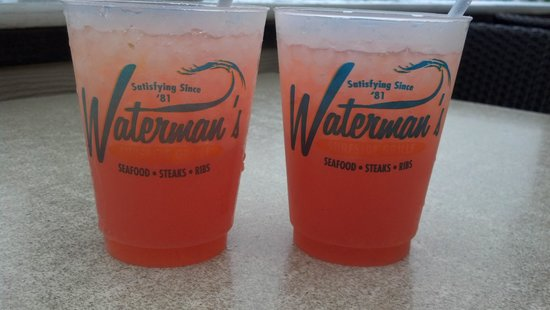 Waterman's Surfside Grille: these are the best drinks in VA Beach!