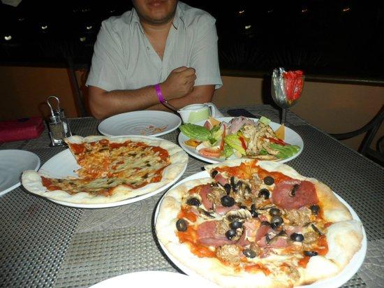 Villa del Palmar Beach Resort & Spa at The Islands of Loreto: pizzas muy ricas