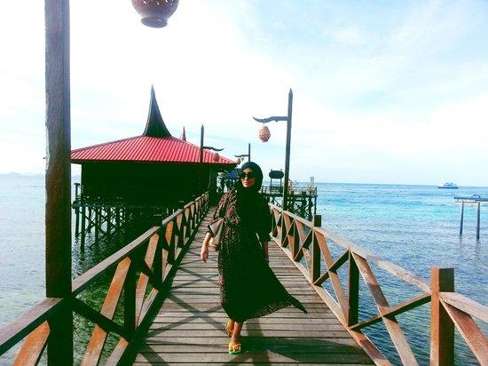 Scuba Junkie Mabul Beach Resort: Scuba Junkie Enterance