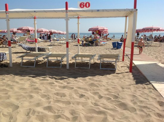 Spiaggia 60 Riccione: Spiaggia 60 Lungomare della Repubblica Riccione