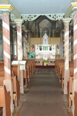 The Painted Church: Painted Church - striped columns