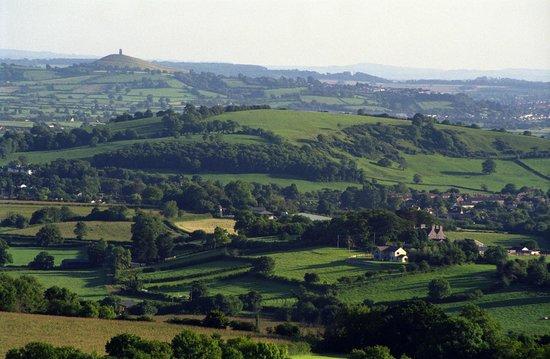 Ebborways Farm: View of Glastonbury Tor