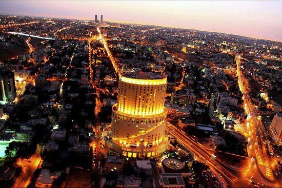 Le Royal Hotel Amman: A night view of Le Royal Hotel from Air