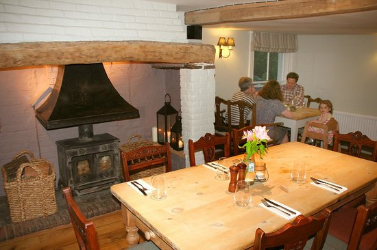 The George at Burpham: Our inglenook snug