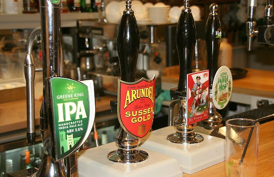 The George at Burpham: Selection of real ales