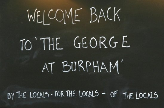 The George at Burpham : Welcome back