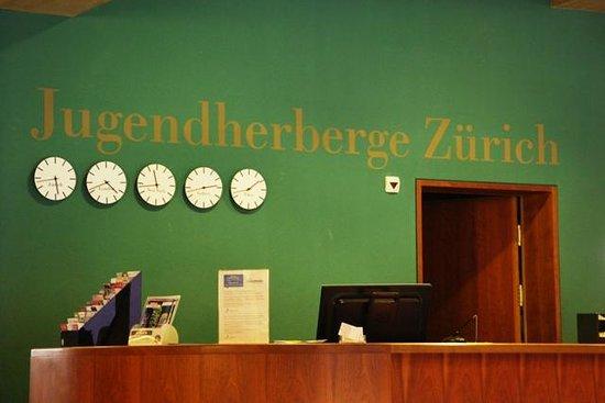 Zurich Youth Hostel : Very green reception