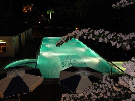 Tara Beach Hotel: pool at night