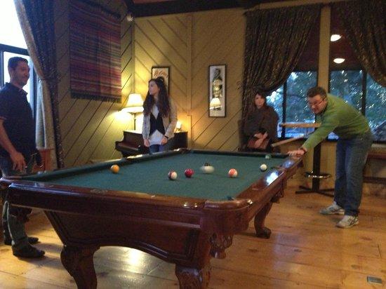 Sierra Nevada Resort & Spa: tavolo da biliardo nella lobby