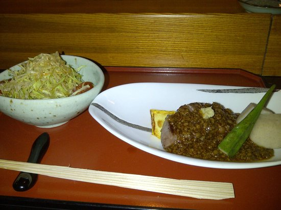 Yamazato Restaurant: Steak with (salty) minced meat from set lunch menu