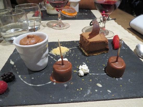 Le Bistrot de la Perle: dessert tout chocolat