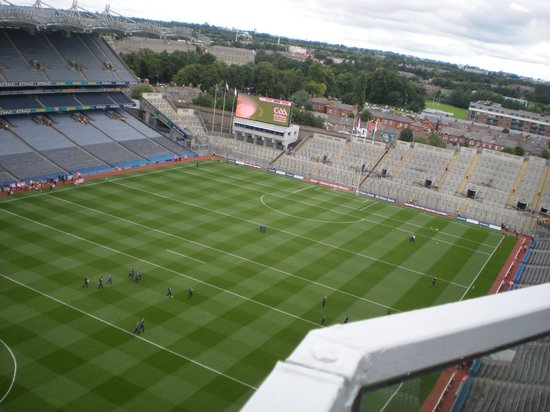 Etihad Skyline Tour Croke Park Stadium: Croke Park pitch