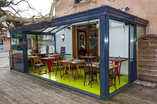 Bol D'Air: La veranda qui donne sur la terrasse