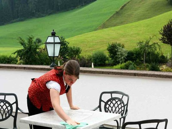 Hotel Schwarzenstein: terrazze di trattenimento