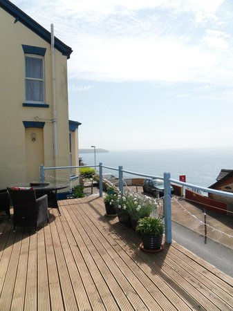 Victoria House: view out to sea