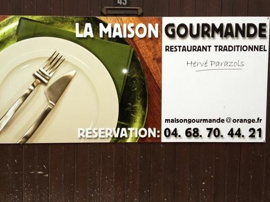 LA MAISON GOURMANDE : enseigne