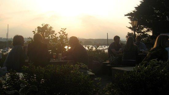 Evening sun at the Passage House Inn