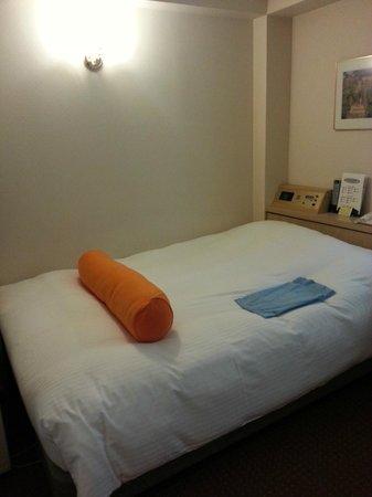Hotel Sunlite Shinjuku : Bed, beware of hair.