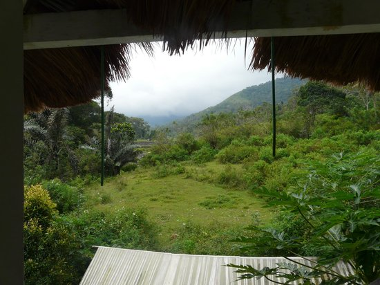 Kelimutu Crater Lakes Eco Lodge: les tuyaux qui pendent du toit