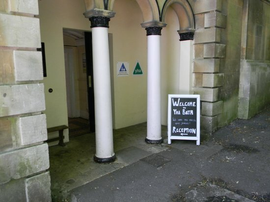 YHA Bath: Main entrance