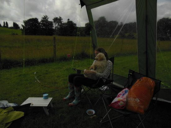 Hawkshead Hall Campsite: at the tent