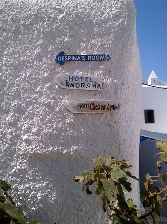 Panorama Hotel: Signs to the hotel