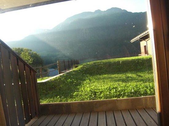 Les Chalets de Celine: terrasse