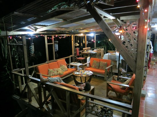 Mt. Pelier Cottages: living/ eating area in the main house