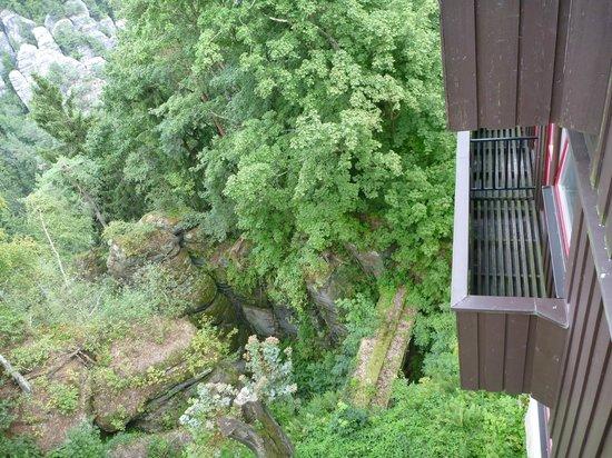 Berghotel Bastei: Blick vom Balkon