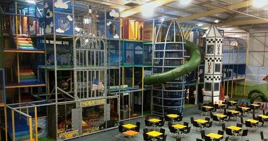 Riverside Hub: 4 storey soft play with slides