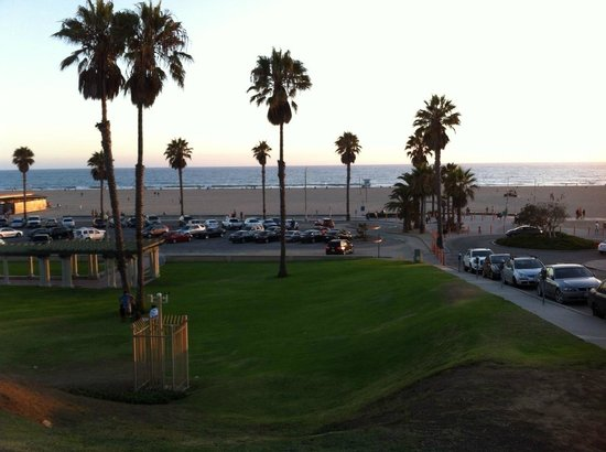 Santa Monica Beach at sunset from Bayside Hotel