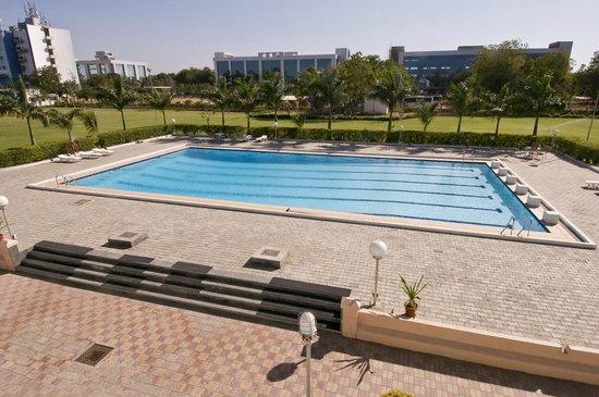 Semi olympic swimming pool picture of infocity club resort gandhinagar tripadvisor for Semi olympic swimming pool size