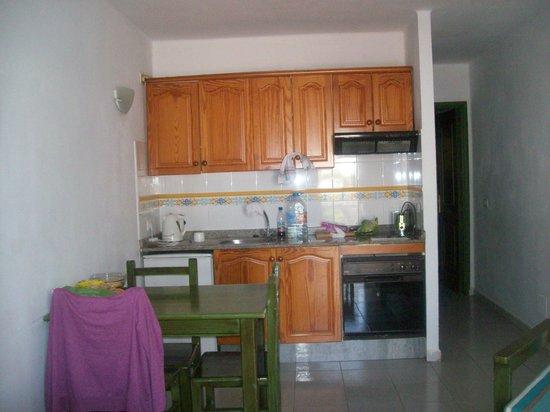 Apartamentos Los Tulipanes: Kitchen/ living room area.