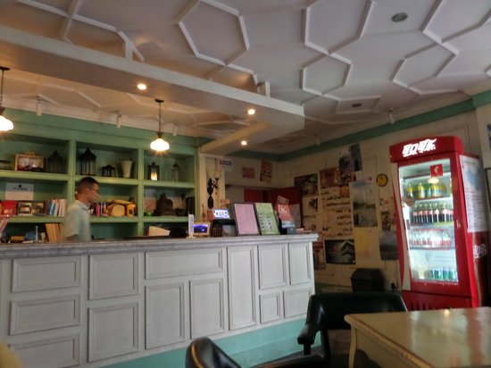 Wushanyi Youth Hostel: Reception desk
