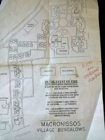Room Map Picture Of Makronisos Holiday Village Ayia Napa - Map of napa hotels