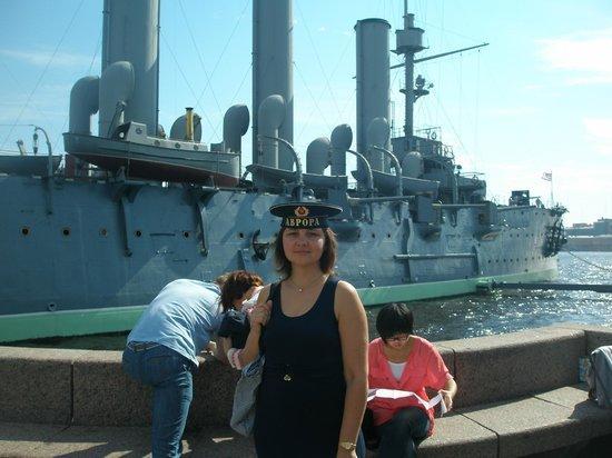 Cruiser Aurora: a souvenir hat from the Aurora