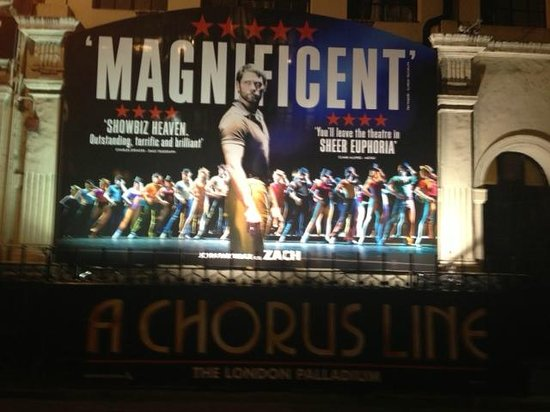 A Chorus Line: The side of the London Palladium
