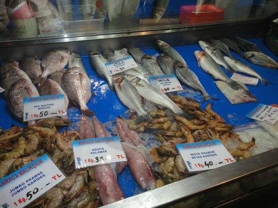 Oztoklu Restaurant : al mercatro scegliendo il pesce