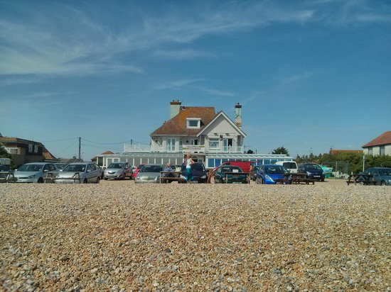 The Moorings: view from the beach